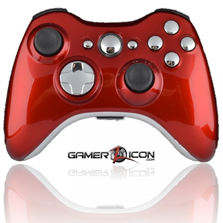 Xbox 360 Modded Controller Polished Red