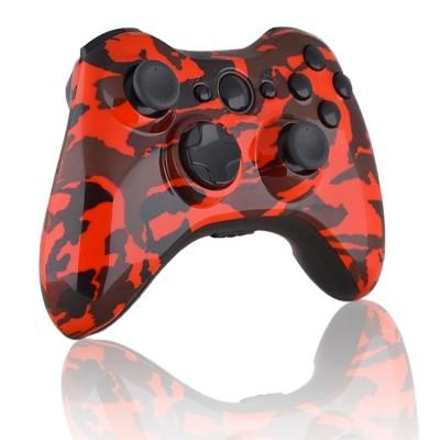Xbox 360 Modded Controller Red Camo Controller