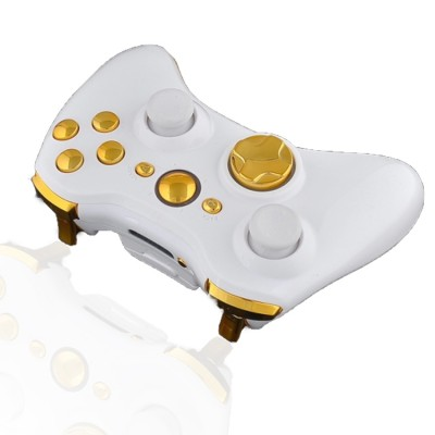 Xbox 360 Rapid Fire Modded Controller White Gold
