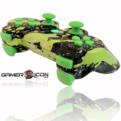 PS3 All Savage Green Rapid Fire Controller