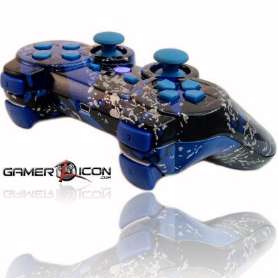 PS3 Chrome All Savage Blue Rapid Fire Controller