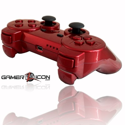 PS3 Chrome Red Rapid Fire Controller