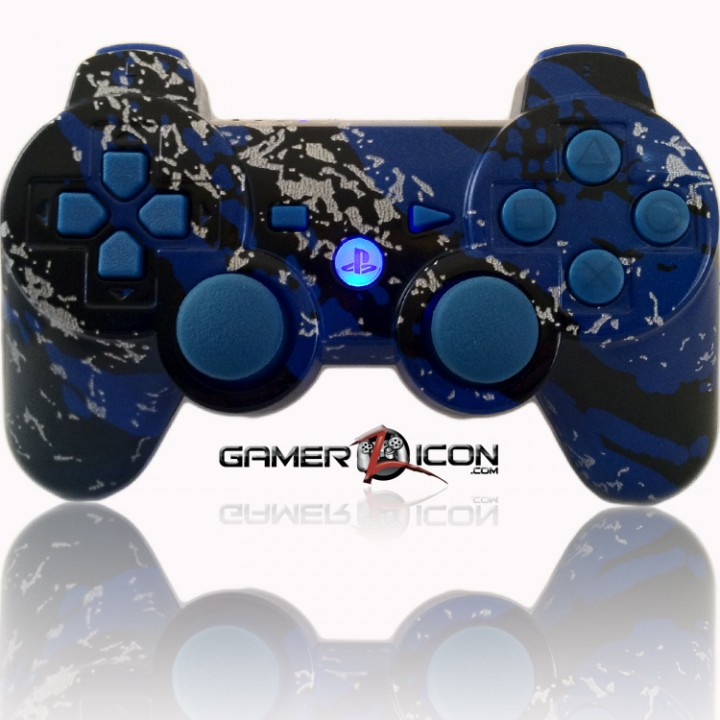 PS3 Modded Controller All Savage Blue
