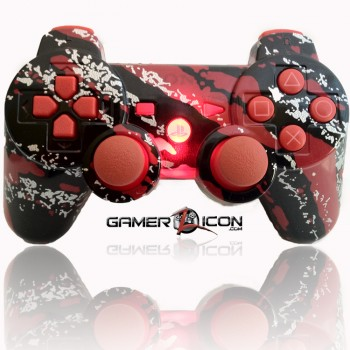 PS3 Modded Controller All Savage Red
