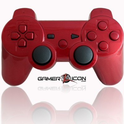 PS3 Modded Controller Chrome Red