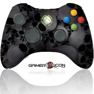Xbox 360 Modded Controller Silver Skull