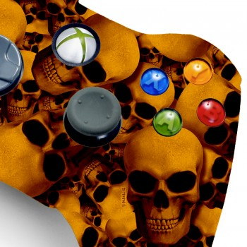 Xbox 360 Rapid Fire Orange Skull Controller