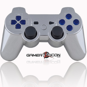 Chrome WIth Blue Inserts