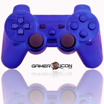 PS3 All Chrome Blue Modded Controller