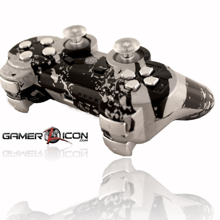 PS3 All Savage SIlver Rapid Fire Controller