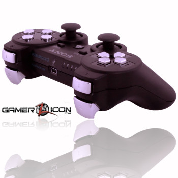 PS3 Charcoal Black Chrome Rapid Fire Controller