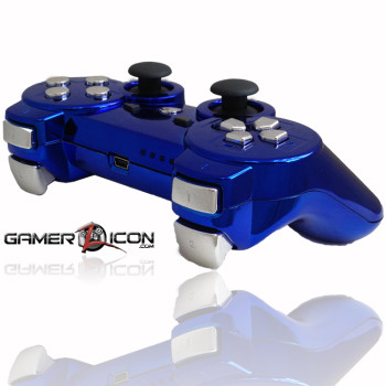 PS3 Chrome Blue Rapid Fire Controller