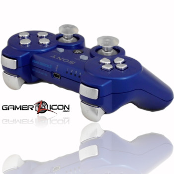 PS3 Metallic Blue Chrome Rapid Fire Controller