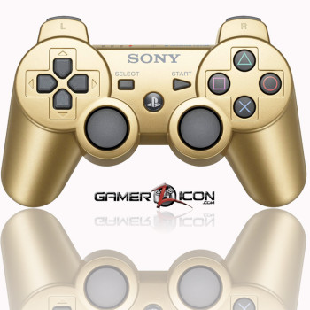 PS3 Metallic Gold Modded Controller