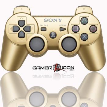 PS3 Metallic Gold Modded Controller
