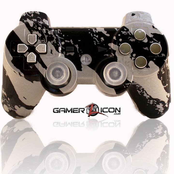 PS3 Modded Controller All Savage Silver