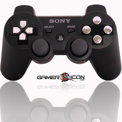 PS3 Modded Controller Charcoal Black Chrome