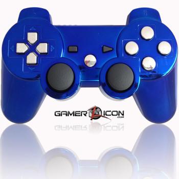 PS3 Modded Controller Chrome Blue