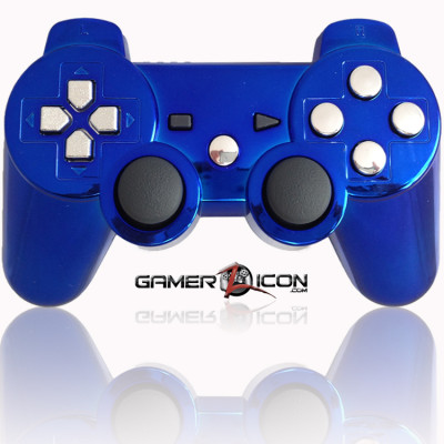 PS3 Modded Controller Chrome Blue