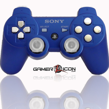 PS3 Modded Controller Metallic Blue Chrome