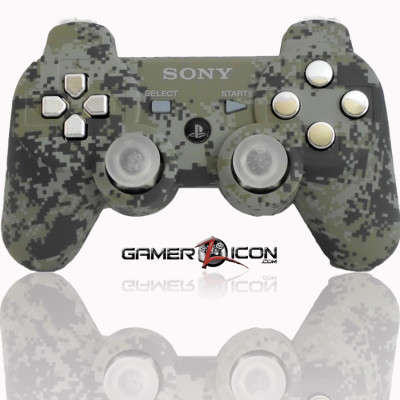 PS3 Modded Controller Urban Camo Chrome