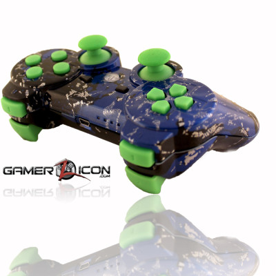 PS3 Savage Blue Green Rapid Fire Controller