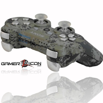 PS3 Urban Camo Chrome Rapid Fire Controller