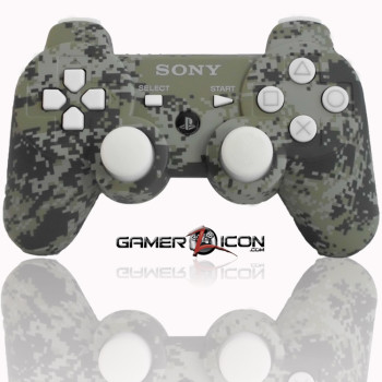 PS3 Urban Camo White Modded Controller