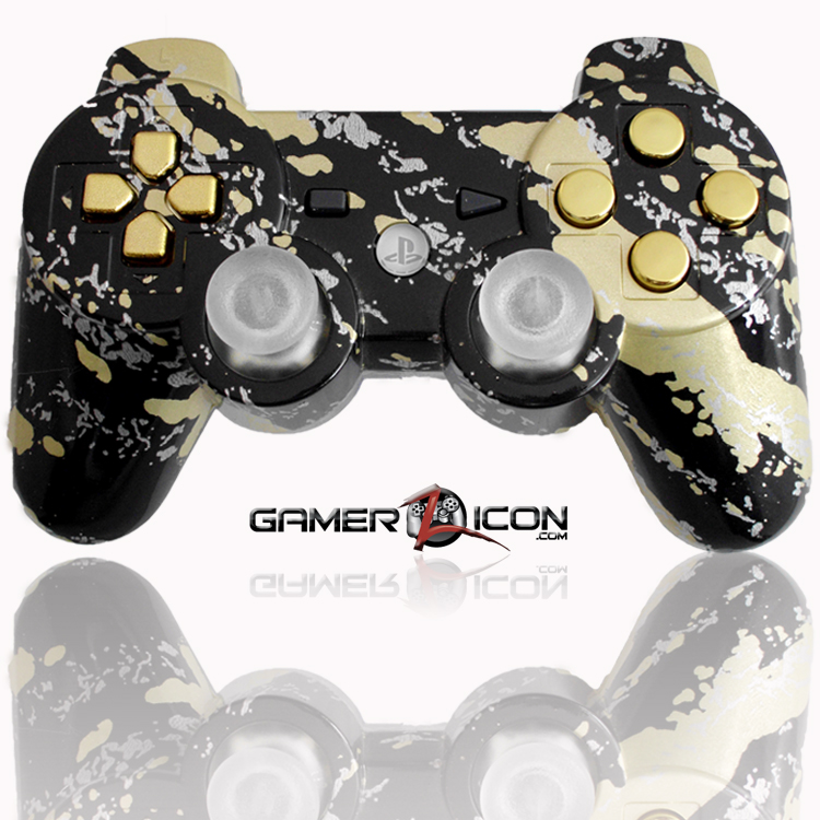 Ps3 Modded Controller Savage Gold With Gold Buttons