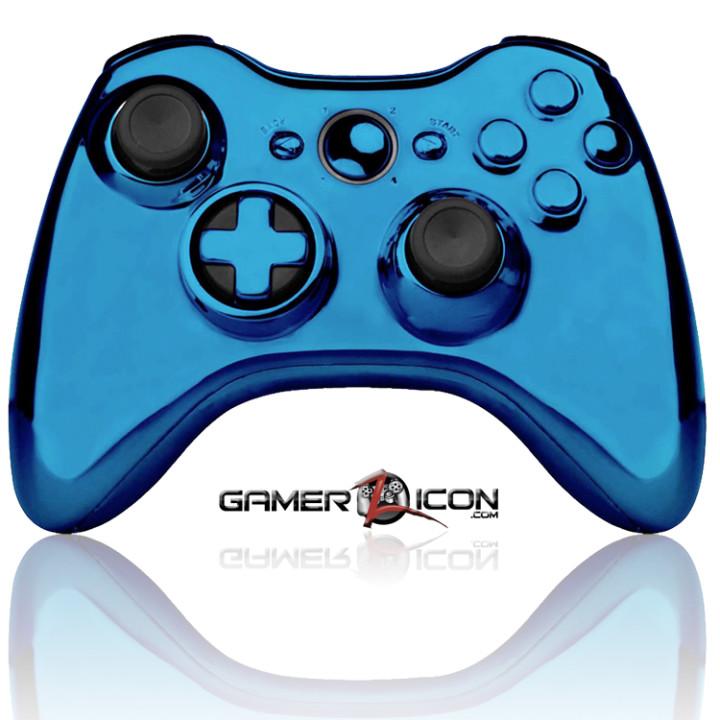 Xbox 360 Chrome Blue Raptorfire