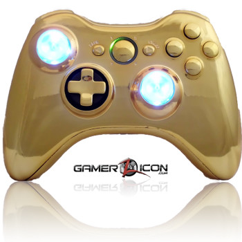 Xbox 360 Chrome Gold Raptorfire