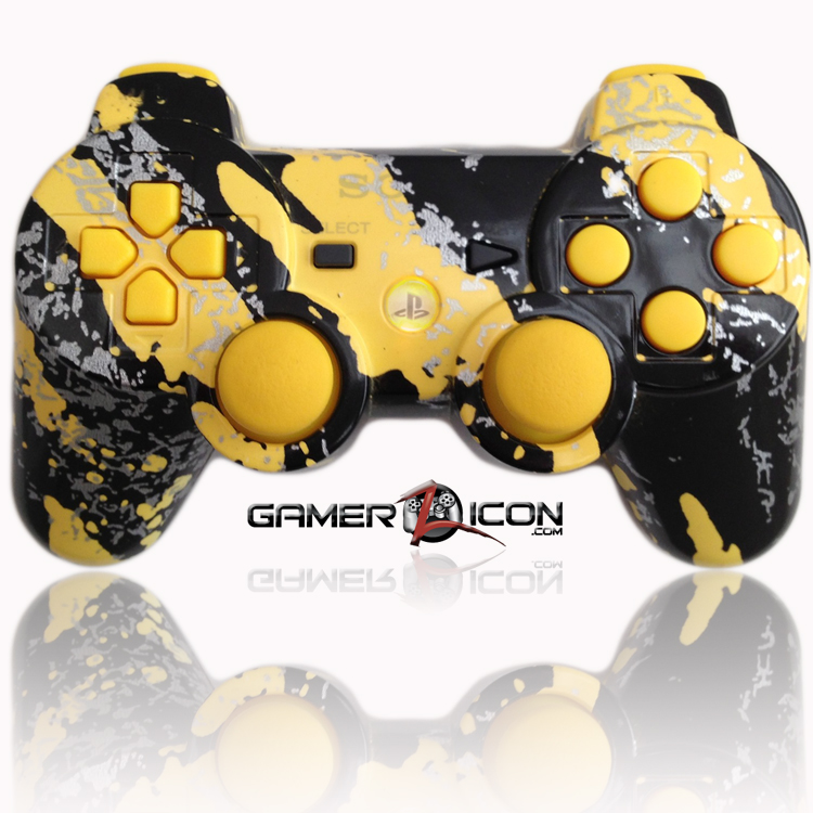 PS3 Modded Controller All Savage Yellow