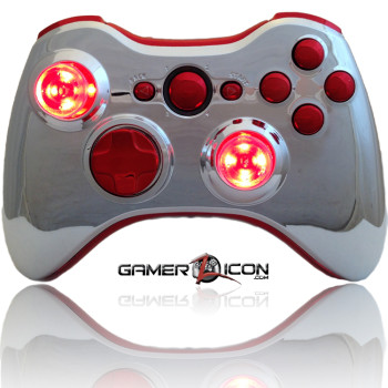 Xbox 360 All Chrome Red Raptorfire