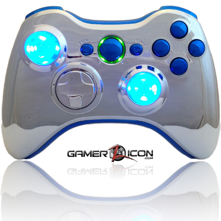 Xbox 360 Chrome Blue Raptorfire