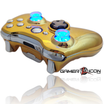 Xbox 360 Chrome Gold Chrome Raptor Fire Controller