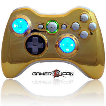 Xbox 360 Chrome Gold Chrome Raptorfire