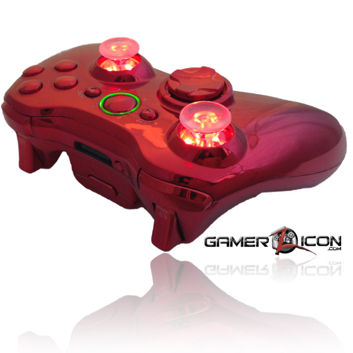 Xbox 360 Chrome Red Raptor Fire Controller