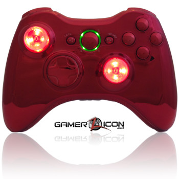 Xbox 360 Chrome Red Raptorfire
