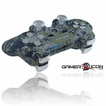 PS3 Urban Camo Chrome Bullet Rapid Fire Controller