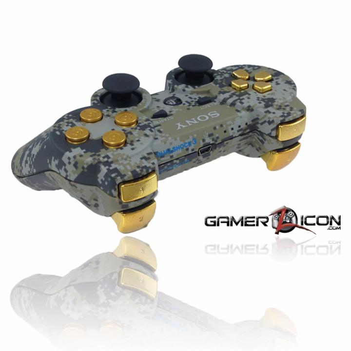 PS3 Urban Camo Gold Bullet Rapid Fire Controller