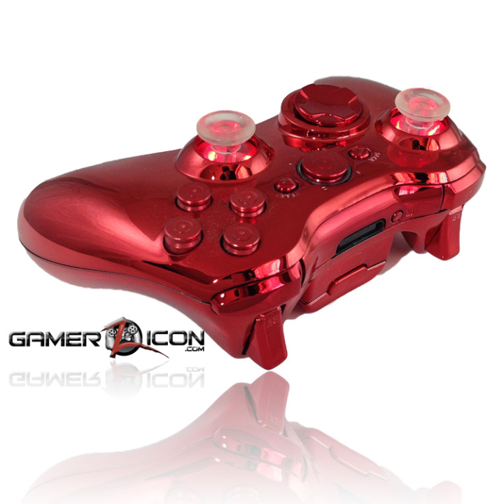 Xbox 360 Chrome Red Bullet Button Edition