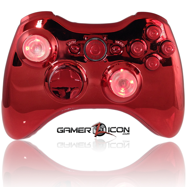 Xbox 360 All Chrome Red