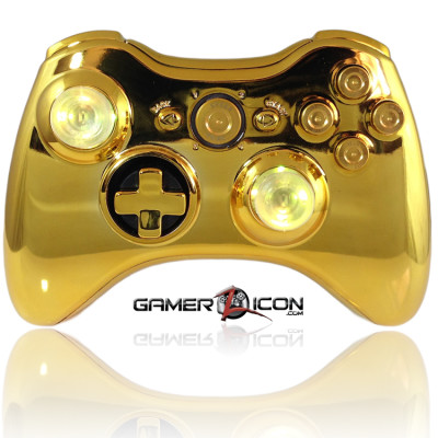Xbox 360 Raptorfire Chrome Gold Bullet Button
