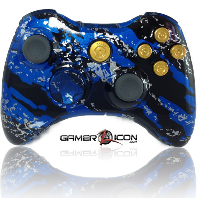 Xbox 360 Savage Blue Gold Bullet Edition