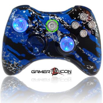 Xbox 360 Savage Blue Raptorfire Chrome Edition