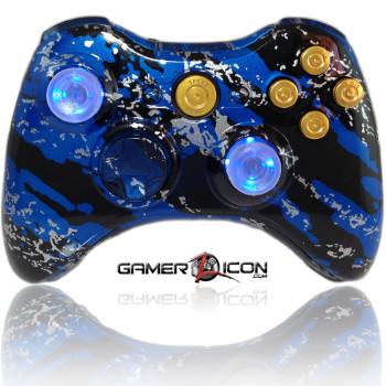 Xbox 360 Savage Blue Raptorfire Gold Edition