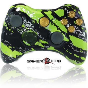 Xbox 360 Savage Green Gold Bullet Edition