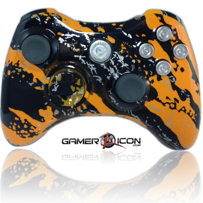 Xbox 360 Savage Orange Chrome Bullet Button Edition