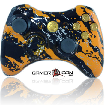 Xbox 360 Savage Orange Gold Bullet Edition