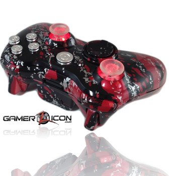 Xbox 360 Savage Red Chrome Raptorfire Bullet Button